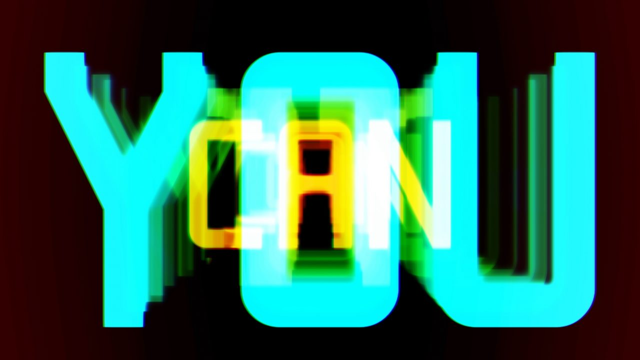 Text saying 'YOU CAN'